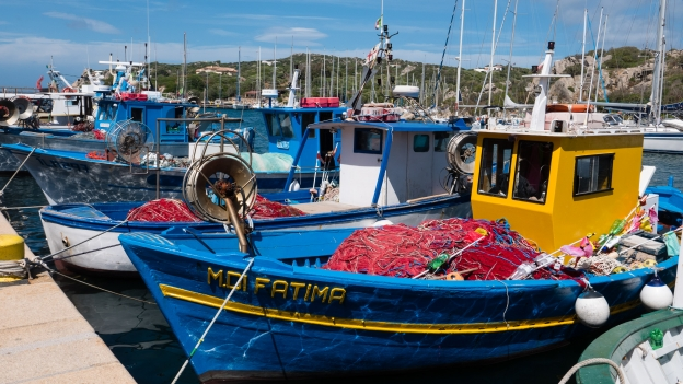 Fishing boats in the port at Santa Teresa Gallura