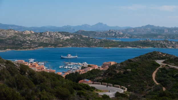 Ferry arriving into La Maddalena