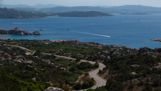 The road to La Maddalena