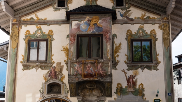 Reutte the Zeiller Haus with frescoes by Johann Jakob Zeiller