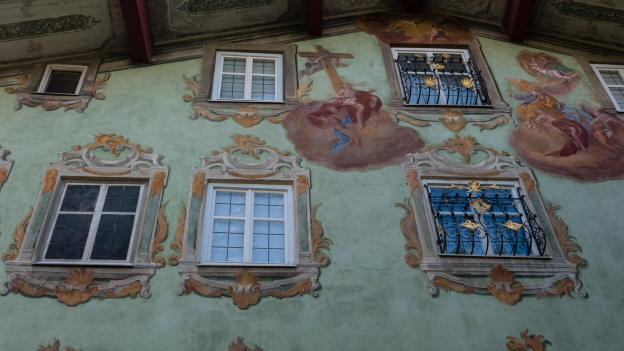 Reutte: the Grüne Haus. Frescoes by Johann Jakob Zeiller