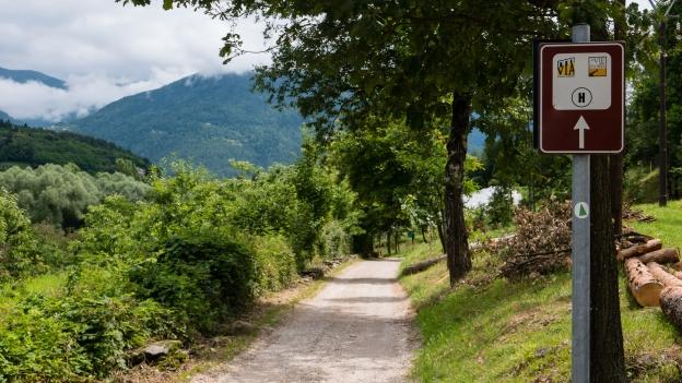 The Via Claudia in the Biotopo Lago Pudro