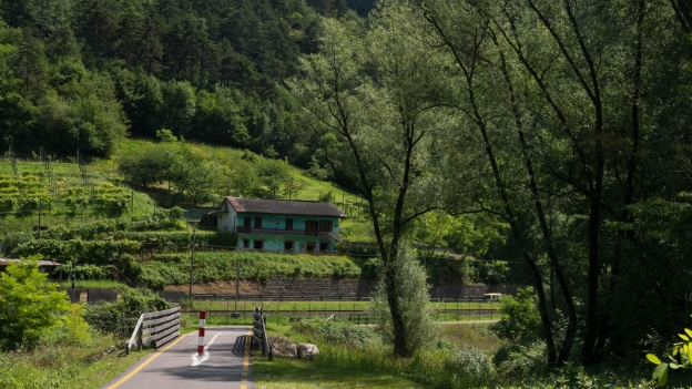 Valsugana cycleway near Grigno