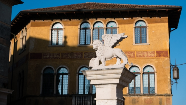 Bassano del Grappa: the lion of San Marco - symbol of the Veneto