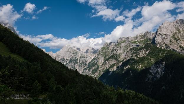 The Julian Alps near Strmec na Predelu