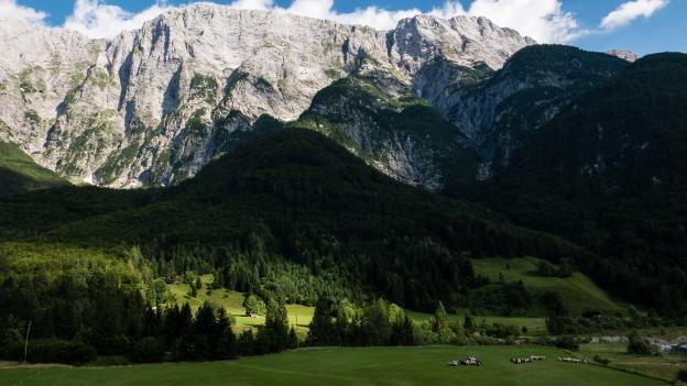 The Julian Alps near Log pod Mangartom
