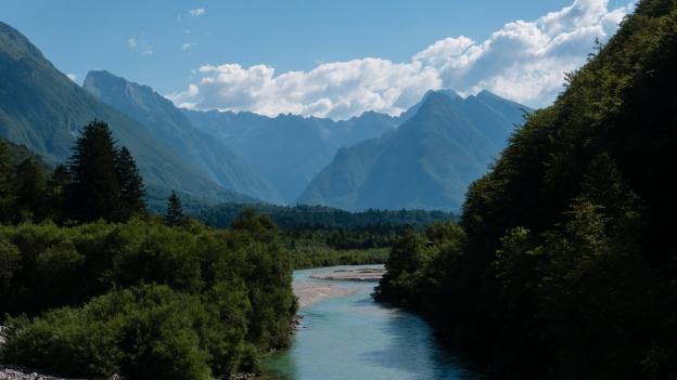 The Soča river near Čezsoča