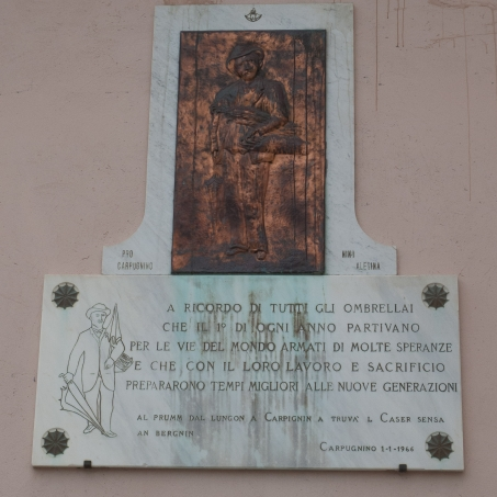 Plaque to the Ombrellai