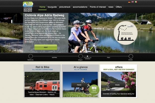 alpe-adria-radweg.com home page