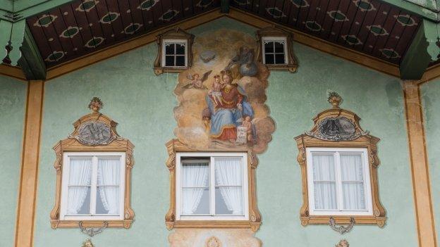 Decorated building façade in Bad Tölz