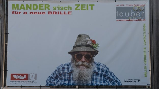 Advertising hoarding in Wiesing