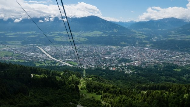 View from the Nordkettenbahn cable car