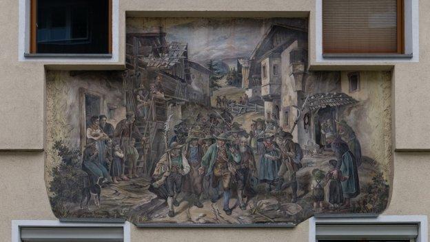 Mural in Lans. Artist F. Seelas (?)