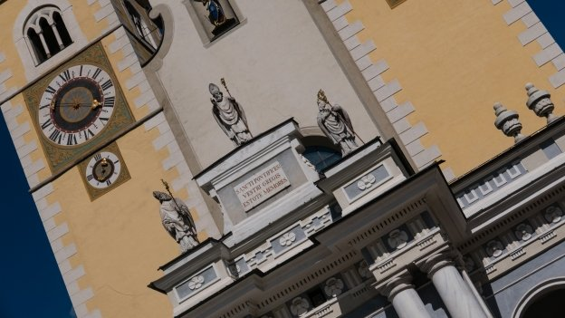 The façade of the cathedral in Brixen (Bressanone)