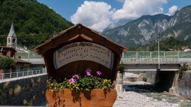 Display on the bridge at Pontebba