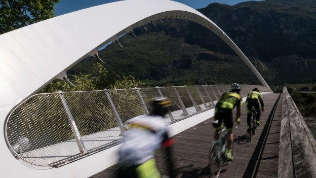 Bridge on the Adige cycleway near Rovereto