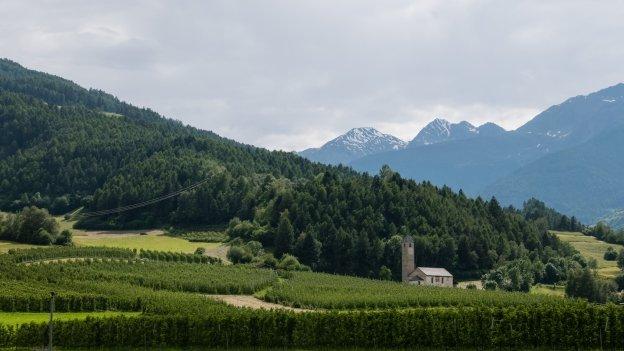 The Vinschgau (Val Venosta) near Prad am Stilfserjoch (Prato allo Stelvio)