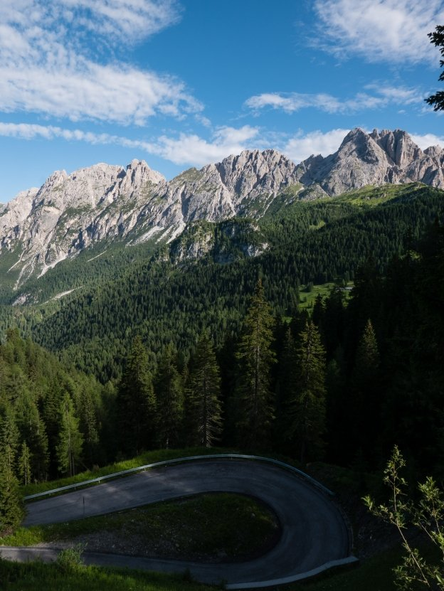 The road to Laggio di Cadore