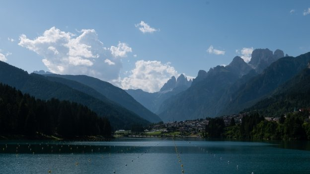 The Lago di Santa Caterina and Auronzo di Cadore