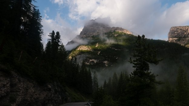 Early morning in the Dolomites near the Lago di Misurina
