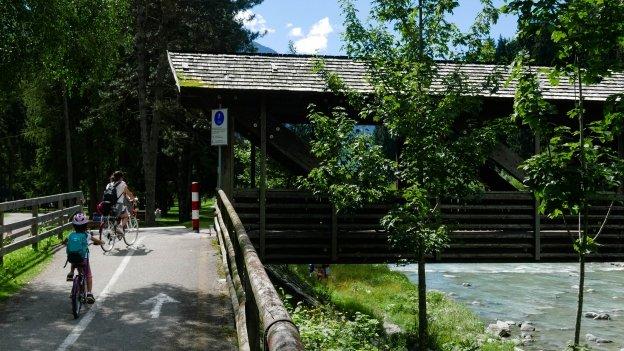 Bridge on the Val Rendena cycleway near Pinzolo