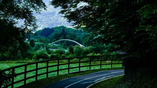 Bridge on the Val Rendena cycleway near Verdesina