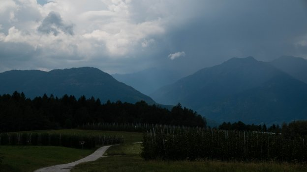 The Alta Val di Non cycleway near Romeno