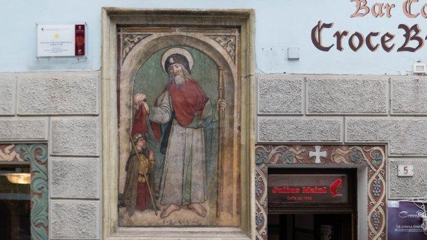 Mural in Fondo of San Giacomo di Compostella