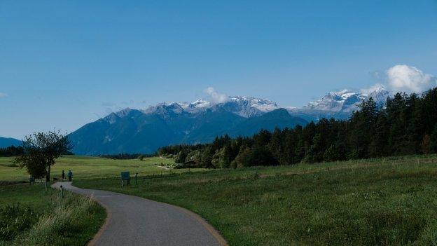 The Alta Val di Non cycleway near Sarnonico