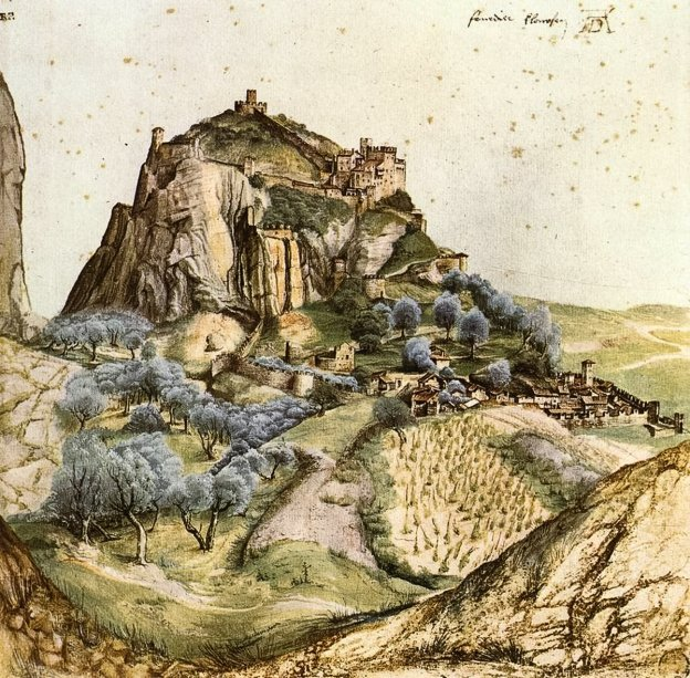 View of the Castello di Arco in 1495 by Albrecht Dürer