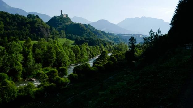 Early morning in the Val di Fiemme near Molina di Fiemme