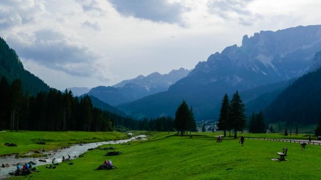The Val di Fassa and the Torrente Avisio near Campitello di Fassa