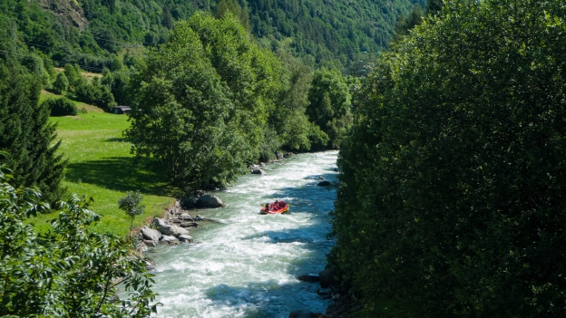 Whitewater rafting on the Torrente Noce